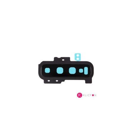 Cristal de Cámara Trasera con Embellecedor Samsung S10 Plus G975F Negro